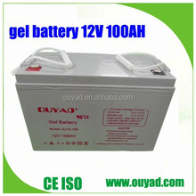 high quality 12V 100AH solar panel battery gel battery