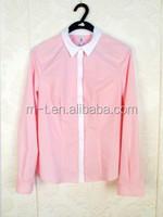 wholesale latest fashion blouses 2015 round neck women cotton blouses sexy lady blusas