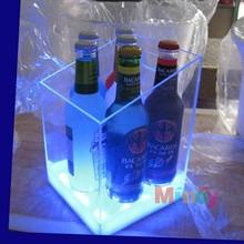 Custom acrylic winebottle pressurized bottle ice contain box holder