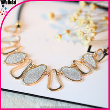 Style restoring ancient ways in Europe and the big geometric frosted necklace sweater chain women necklace