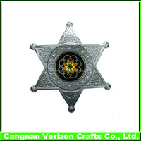 Metal Material Polished Technique military style badge and cheap metal badge