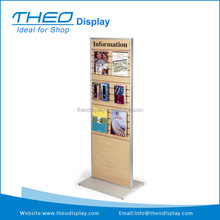 Double Sided Slatwall Kiosk for Floor with Custom Header