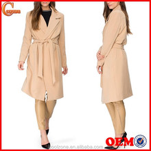 Latest elegant open front women's coat winter fur coat 2015