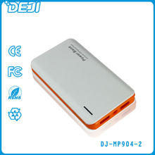 easy carrying high capacity 8000mah led torch light double usb power bank for samsung galaxy note 2 n7100 for iphone