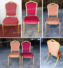 Fashion and modern China aluminum banquet dining chair for wedding