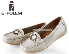 Ladies Leather Shoes Zapato de vestir de cuero blanco