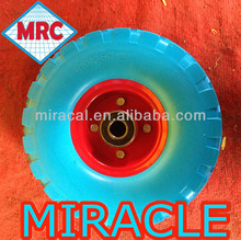 Supermarket Polyurethane PU Wheel With Metal Core 350-4