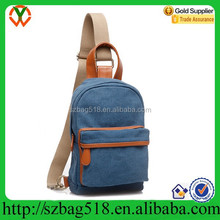 Hot sell canvas sling backpack mens travel sling cross body bag