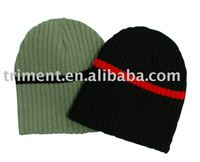 New style acrylic knitted striped soft beanie