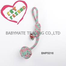 Ball Rope Dog Chew Toy,Braided Knots Rope Ball dog toy ,Rope Knot And Twisted Pet Toy