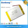 Highest capacity rechargeable 3.7v 8000mah li-ion polymer battery for android system