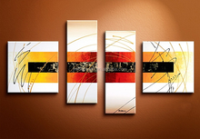 100%Handpainted High Quality Abstract Oil Painting by Artist for Saloon