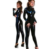 Fashion women 2015 Sexy Fetish latex catsuit for woman tight rubber clothing with 0.4mm thickness garment full cover plus size