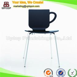 (SP-UC387) Modern black 4 leg cafe chair plastic