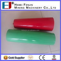 steel pipe support cable ground roller / pulley block for conveyor equipment