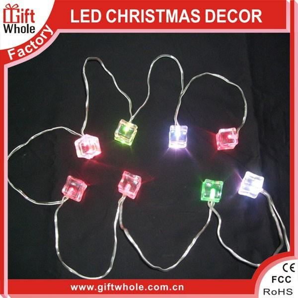 Hot seller ICE-CUBE LED christmas light chain
