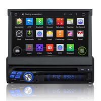 2015 new model quad core Android4.4 screen mirror link 1 din universal car dvd cd player auto