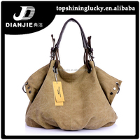 New product women shoulder bags korea fashion canvas handbag factories in china