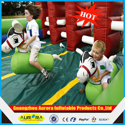 2014 best popular Inflatable Games Fun Derby horse Racing
