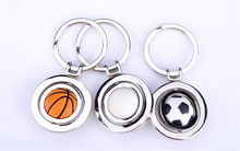 2014 fashion style hot selling Football/ basketball /golfball key ring /creative key chain