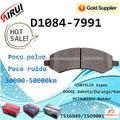 D1084-7991 Pastillas de freno de disco de cerámica de alta categoría