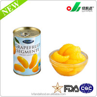 canned grapefruit in light syrup , canned fruit, canned food