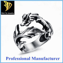 Hot bikers' Stainless Steel Casting Rings Dragon Shape Men Fashion Jewelry Rings