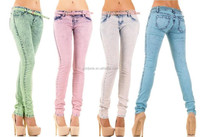 Womens Stretch Faded Slim Fit Stretchy Ladies Denim Skinny Jeans Size