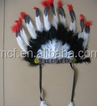 wholesale cheap indian feather headdress FW-0081