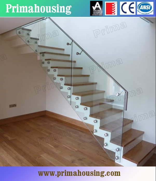 Indoor glass stair railings for staircase glass railing for S l home design co ltd