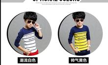 S61172A popular boy stripe customized long sleeve tshirt