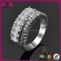 Fashion Engagement Ring With Prong Setting Rings Made Of Stone
