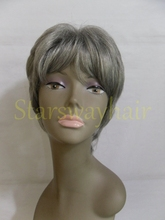 China premium quality best selling indian women hair wig short style grey hair wig