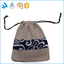 Small drawstring Jute Jewelry Pouch, Jute Bag Wholesale