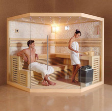 220-380V Hot sale Diamond Shape Full Glass Sauna room