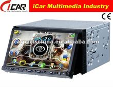 """7"""" Bluetooth, Built-in GPS, Touch Screen, RDS, 2 din dvd player for car"""