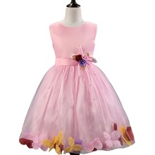 2015 Wholesale newest popular pink girls party dresses