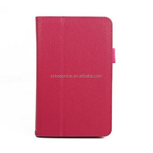 litchi grain tablet computer smart leather case for DELL tablet
