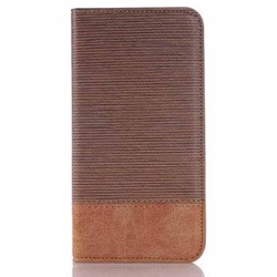 Cross Lines Grain leather flip case for samsung galaxy s6 wallet case cover