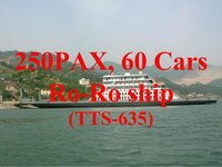 TTS-635:250 PAX, 60 Cars ro-ro ship for sale