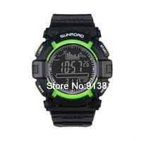 Multi функции Цифровые рыбацкие барометр Водонепроницаемые наручные часы термометр высотомер барометр наручные часы fr711b