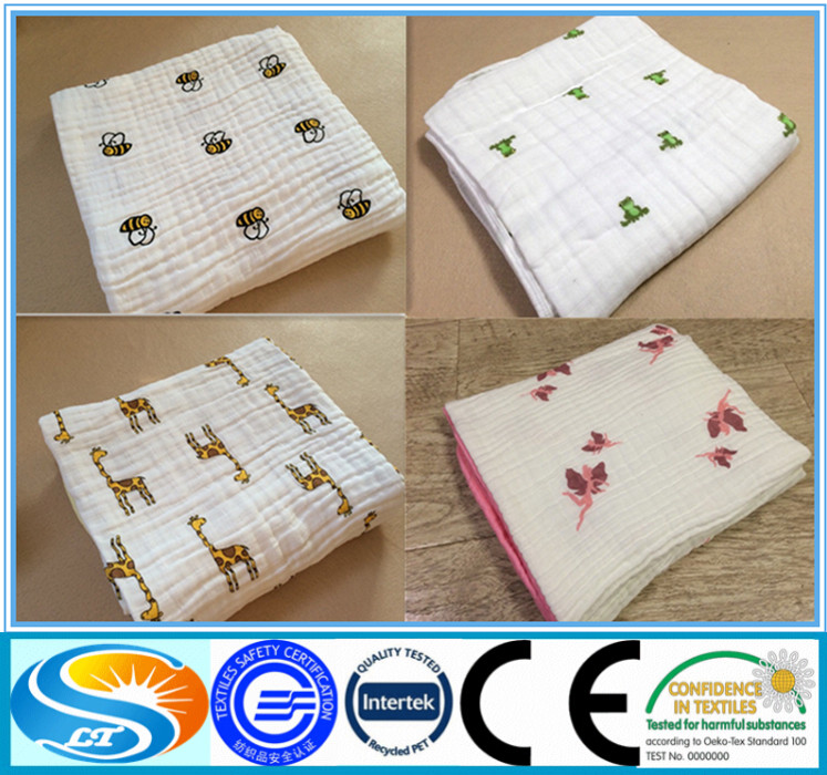 Little girl cotton printed muslin baby for Wholesale baby fabric