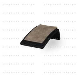 wholesale alibaba product black matte painting light brown pu leather acrylic jewelry display