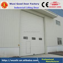 Manual Remote Control Window Inserted Steel Industrial High Lift Door