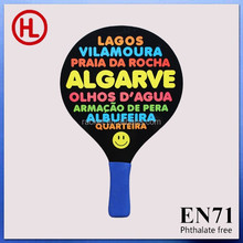TOP QUALITY promotion custom Sticker printing Wooden Beach Tennis Racket/beach paddle