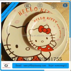 wholesale cheap bulk food porcelain plate/ceramic hotel used salad plate