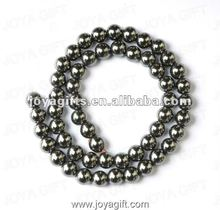 8MM Loose Magnetic Hematite Round Beads 16""