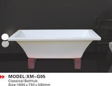 The wood base classical bathtub