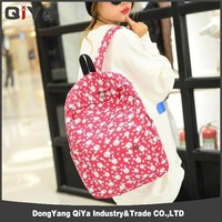 High quality canvas animals school laptop backpack ,travel bag