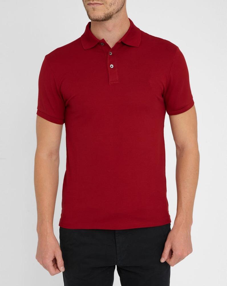 Custom mens red plain polo shirts 100 cotton wholesale for Custom printed polo shirts cheap
